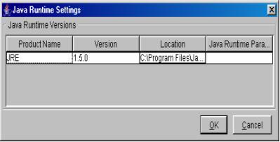 java machine settings